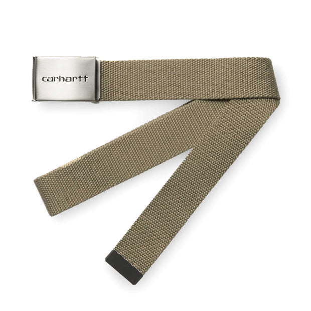 Carhartt WIPClip Belt Chrome | Leather - CROSSOVER