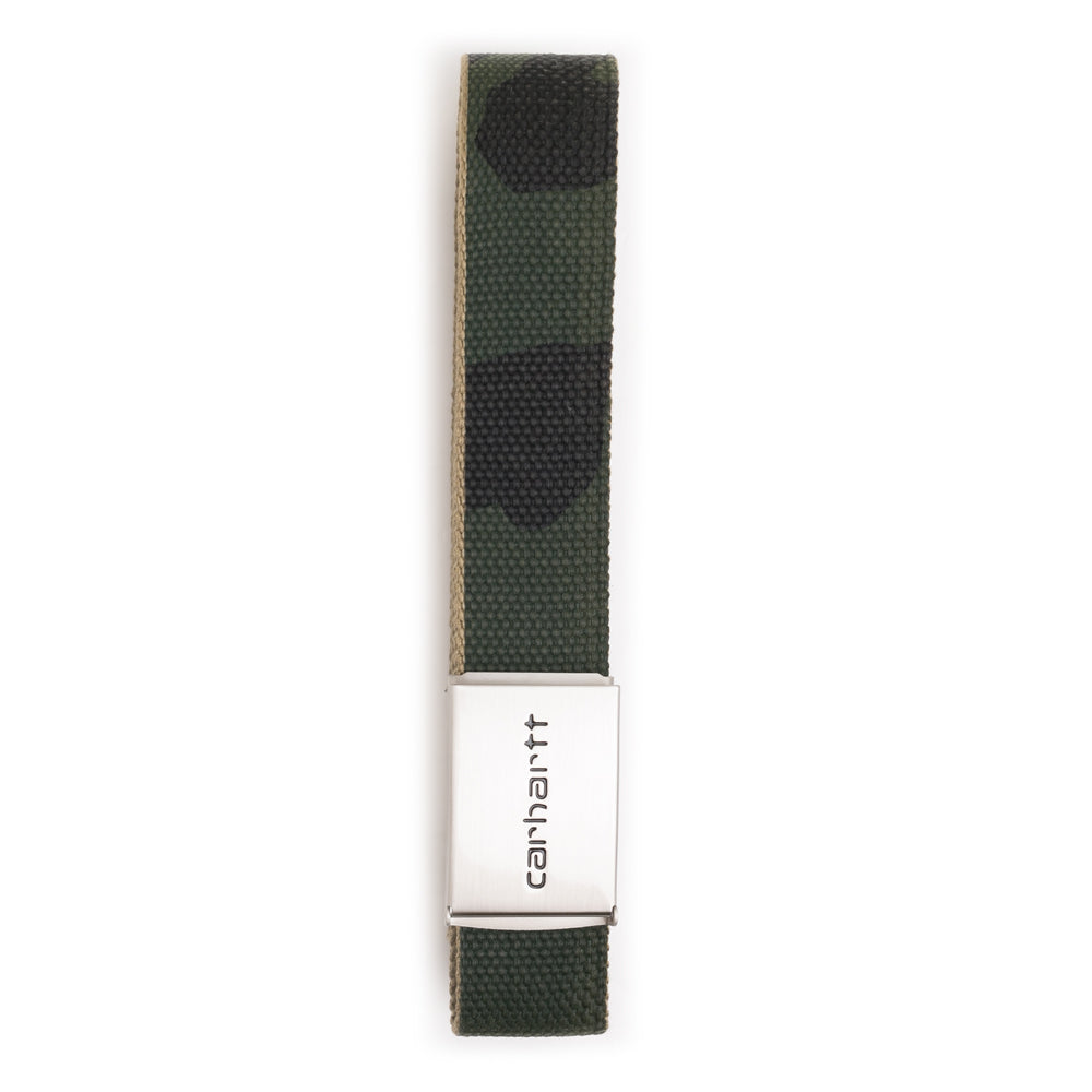 Carhartt WIP Clip Belt Chrome | Camo - CROSSOVER