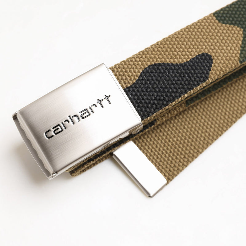 Carhartt WIP Clip Belt Chrome | Camo Laurel - CROSSOVER