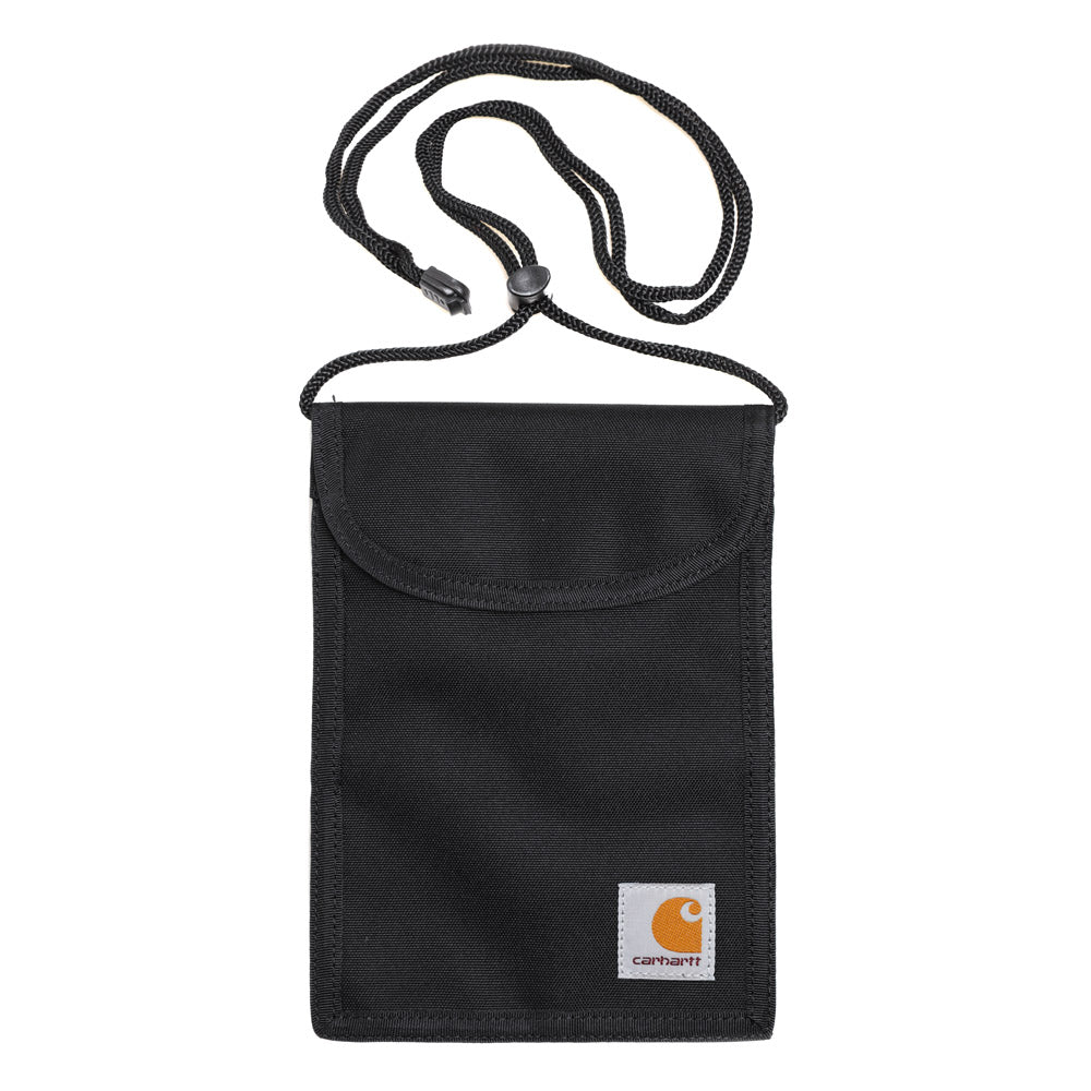 Carhartt WIP Collins Neck Pouch | Black - CROSSOVER