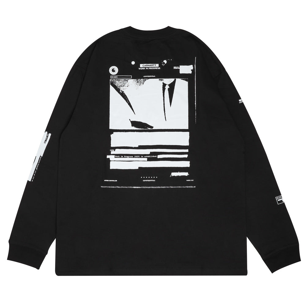 Carhartt WIP Confidential L/S Tee | Black - CROSSOVER