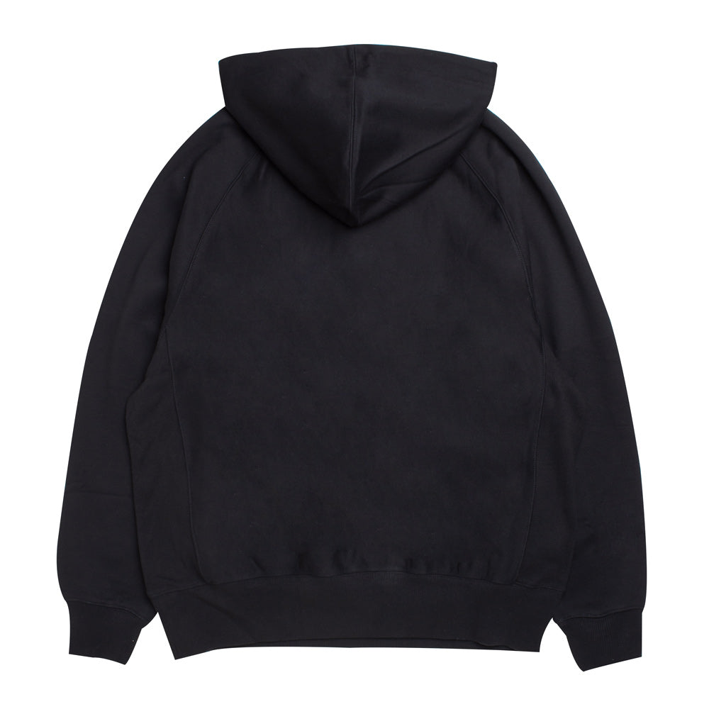 Hooded Garret Half Zip Sweat | Black