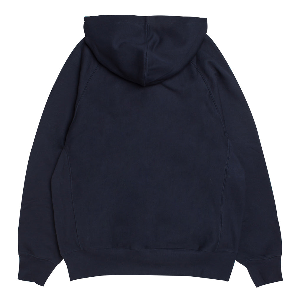 Hooded Garret Half Zip Sweat | Navy