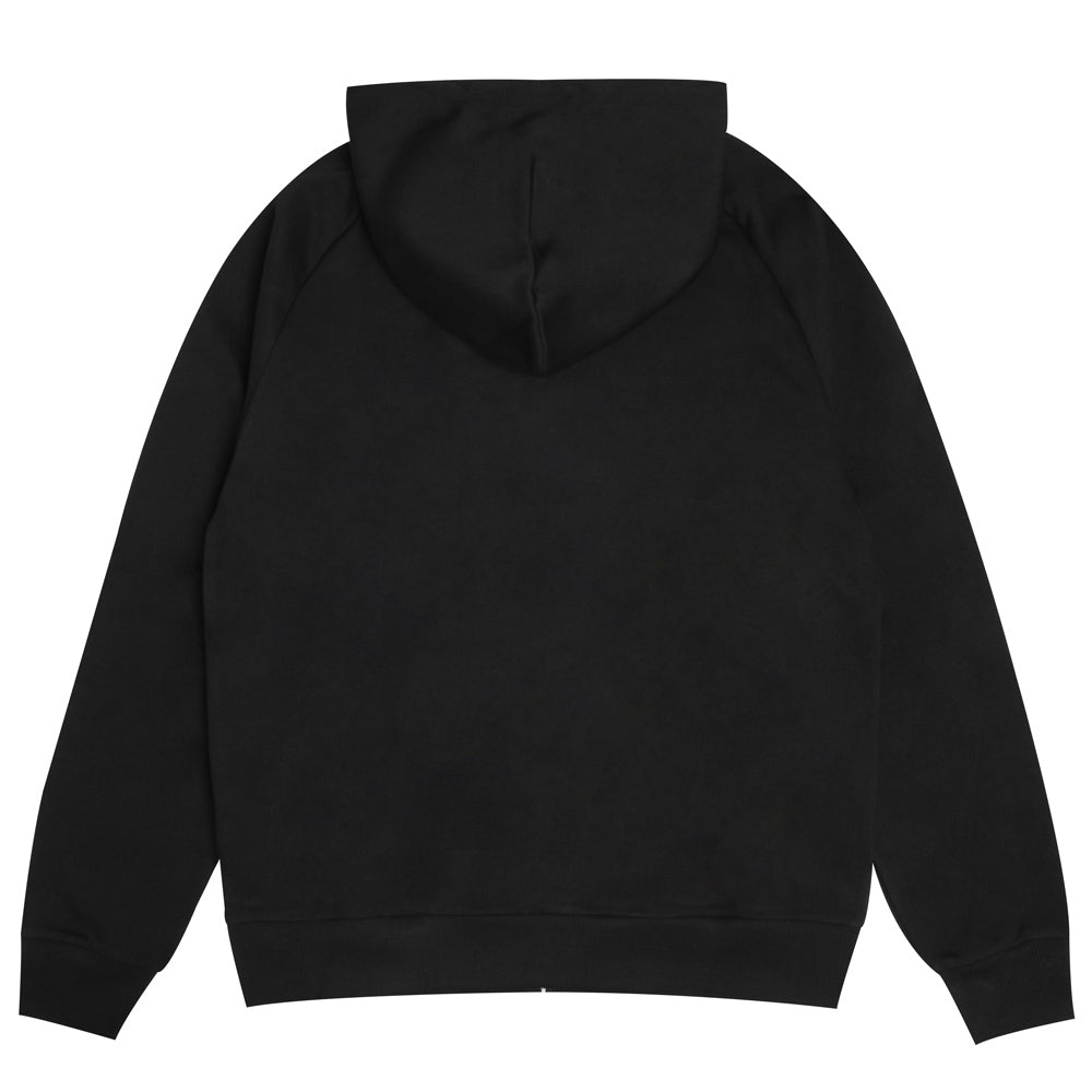 Hooded Square Label Jacket | Black