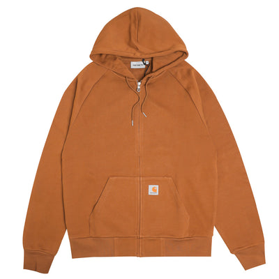 Carhartt WIPHooded Square Label Jacket | Hamilton Brown - CROSSOVER