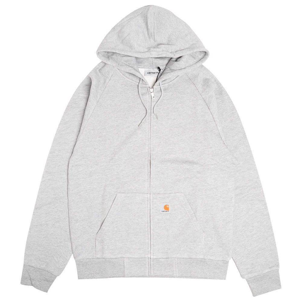Hooded Square Label Jacket | Grey Heather