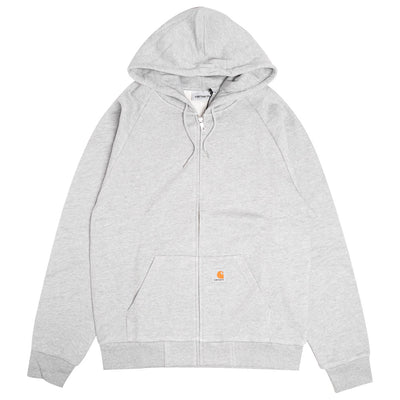 Carhartt WIP Hooded Square Label Jacket | Grey Heather - CROSSOVER