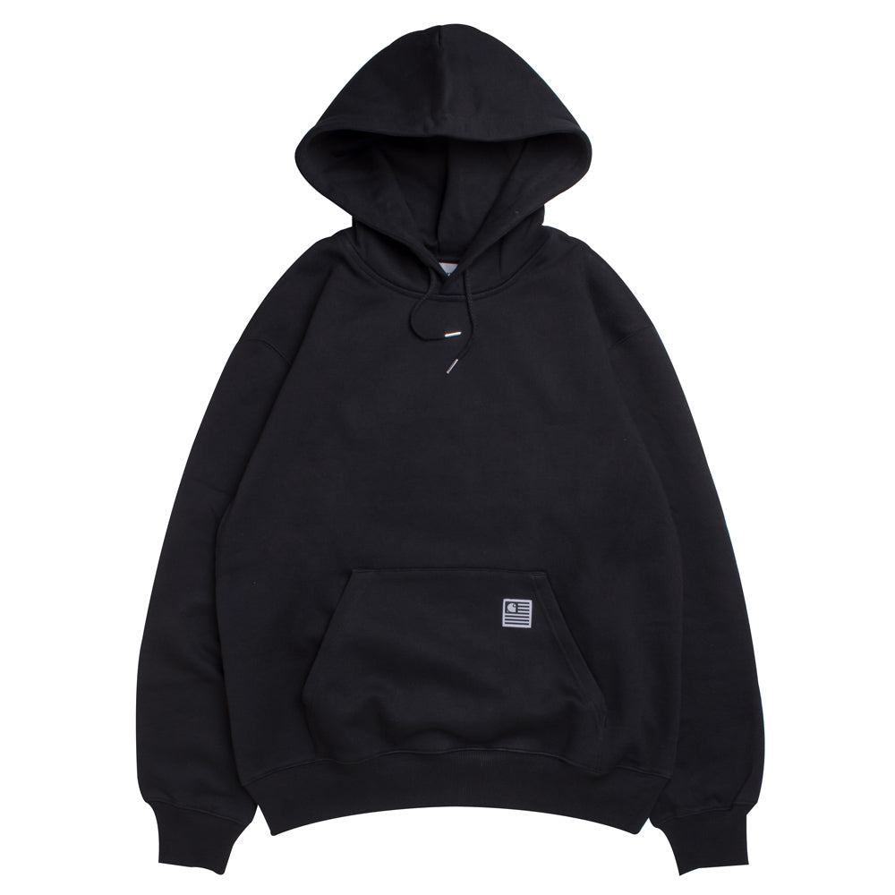 Carhartt WIP Hooded State Flag Sweat | Black - CROSSOVER