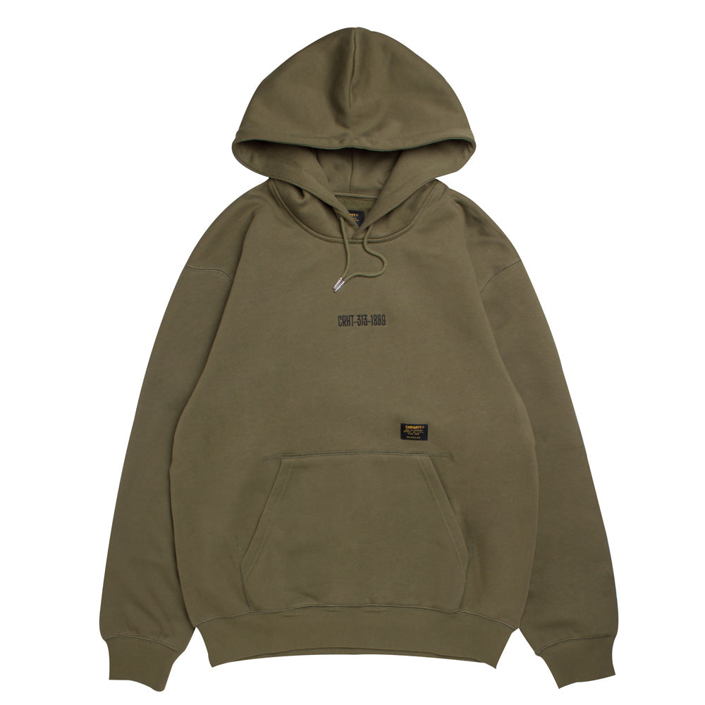 Carhartt WIP Hooded Survival Sweat | Rover Green - CROSSOVER