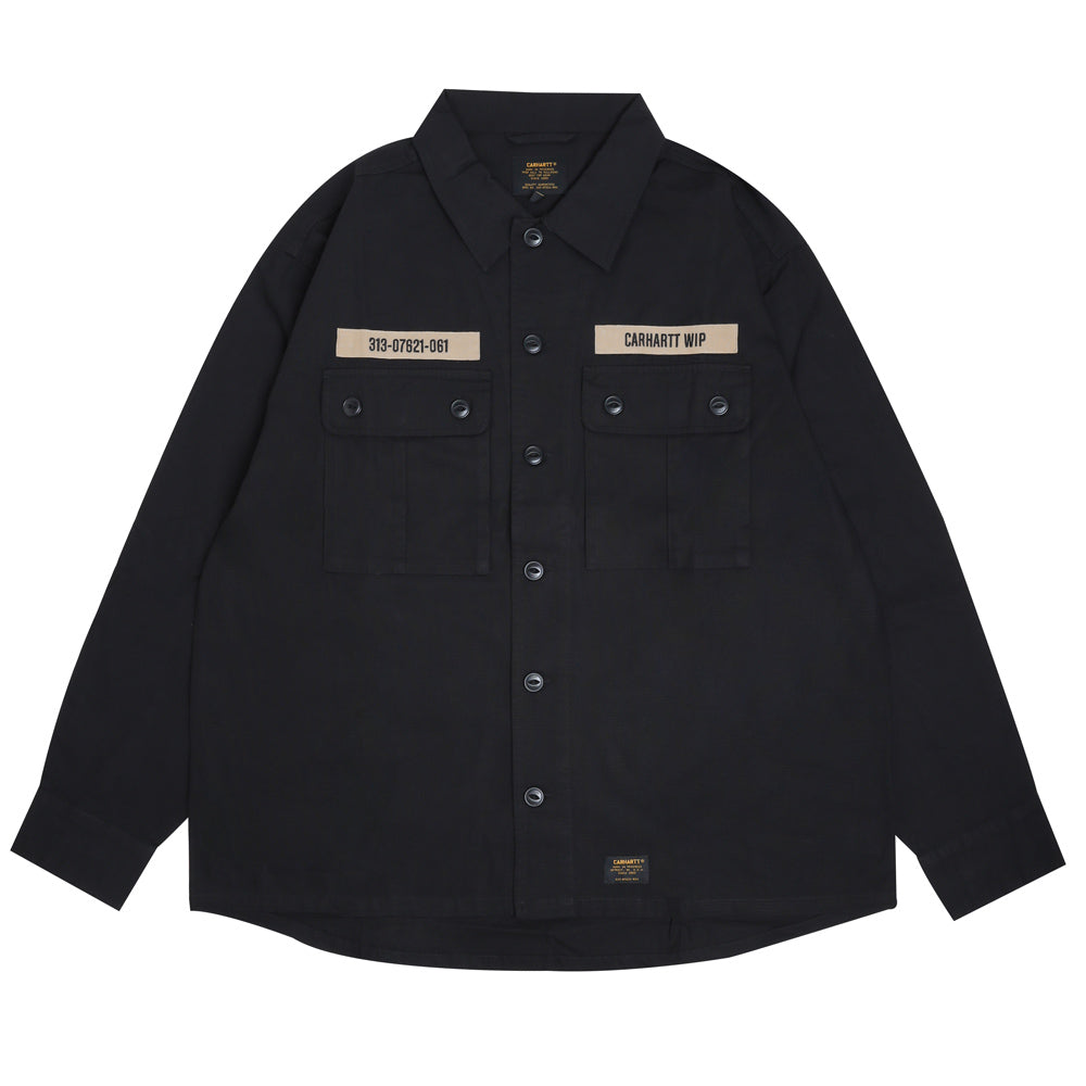 Carhartt WIP Adam L/S Shirt | Black - CROSSOVER