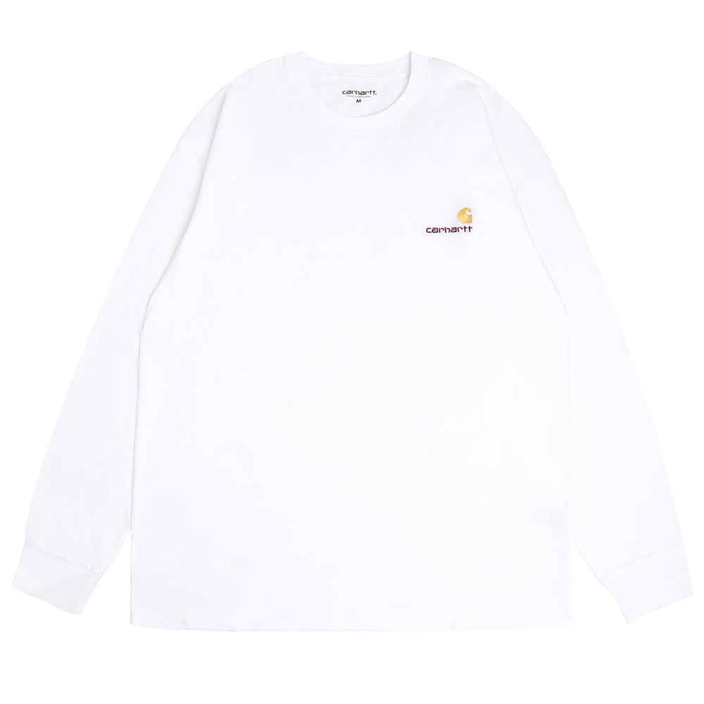 Carhartt WIP American Script L/S Tee | White - CROSSOVER