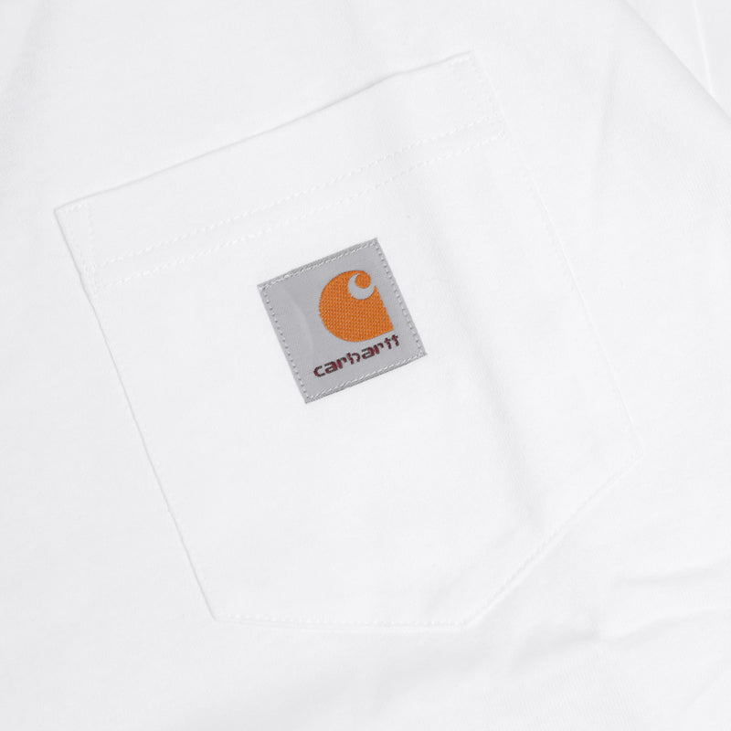 Carhartt WIP Pocket Loose L/S Tee | White - CROSSOVER