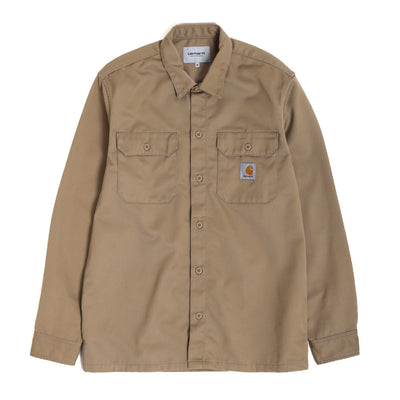 Carhartt WIP Master L/S Shirt | Leather - CROSSOVER