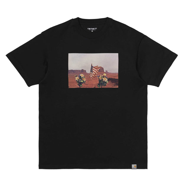 Carhartt WIP Matt Martin Flags Tee | Black - CROSSOVER