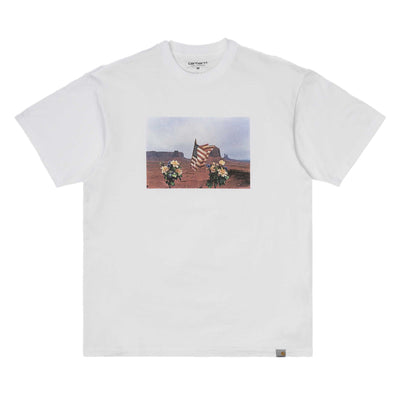 Carhartt WIP Matt Martin Flags Tee | White - CROSSOVER