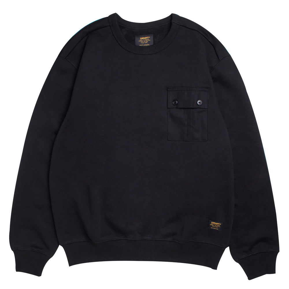 Carhartt WIP Military Pocket Sweat | Black - CROSSOVER ONLINE