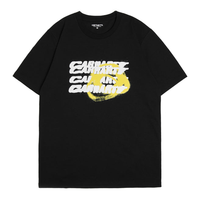 S/S Modes Spray Tee | Black