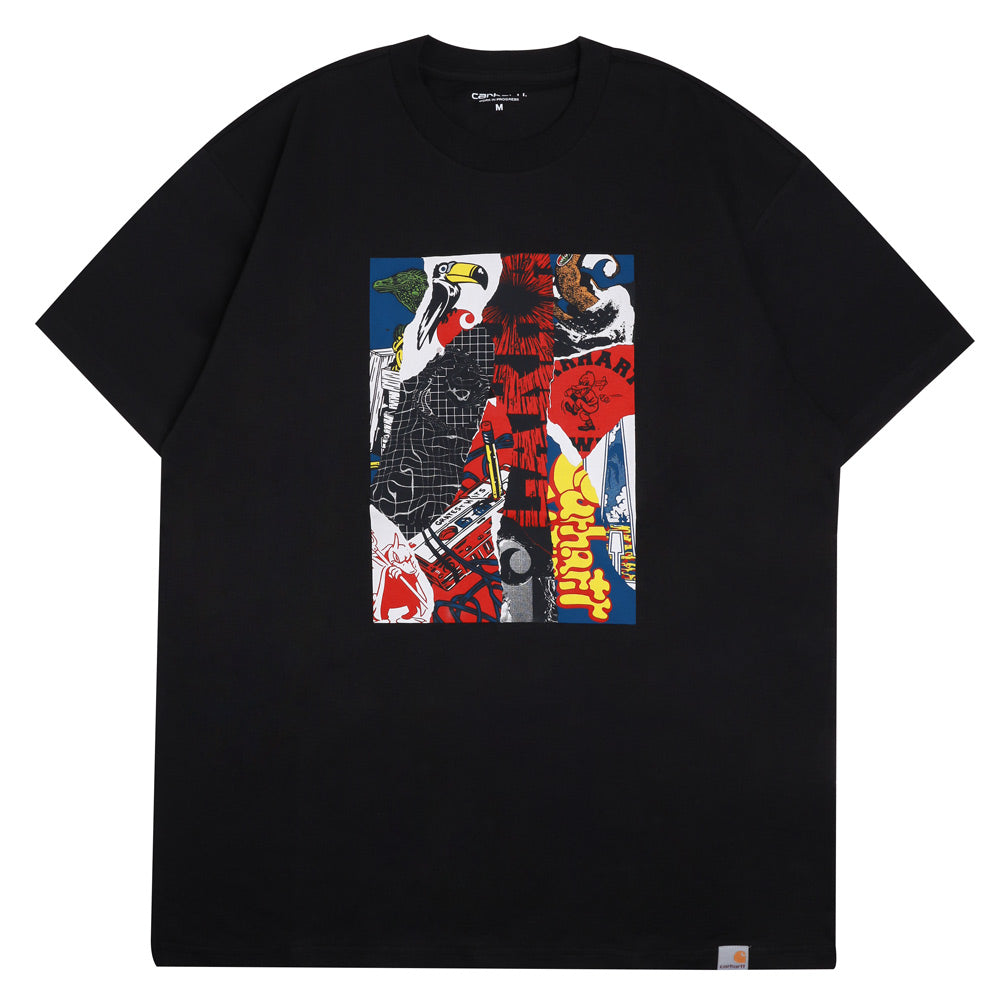 Carhartt WIP Patchwork Tee | Black - CROSSOVER