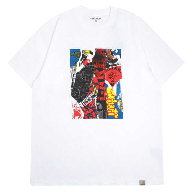 Carhartt WIP Patchwork Tee | White - CROSSOVER