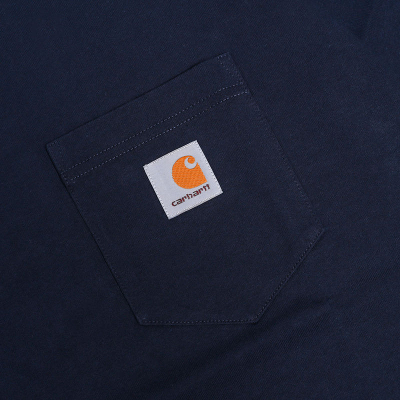 Carhartt WIP Pocket Loose Tee | Navy - CROSSOVER
