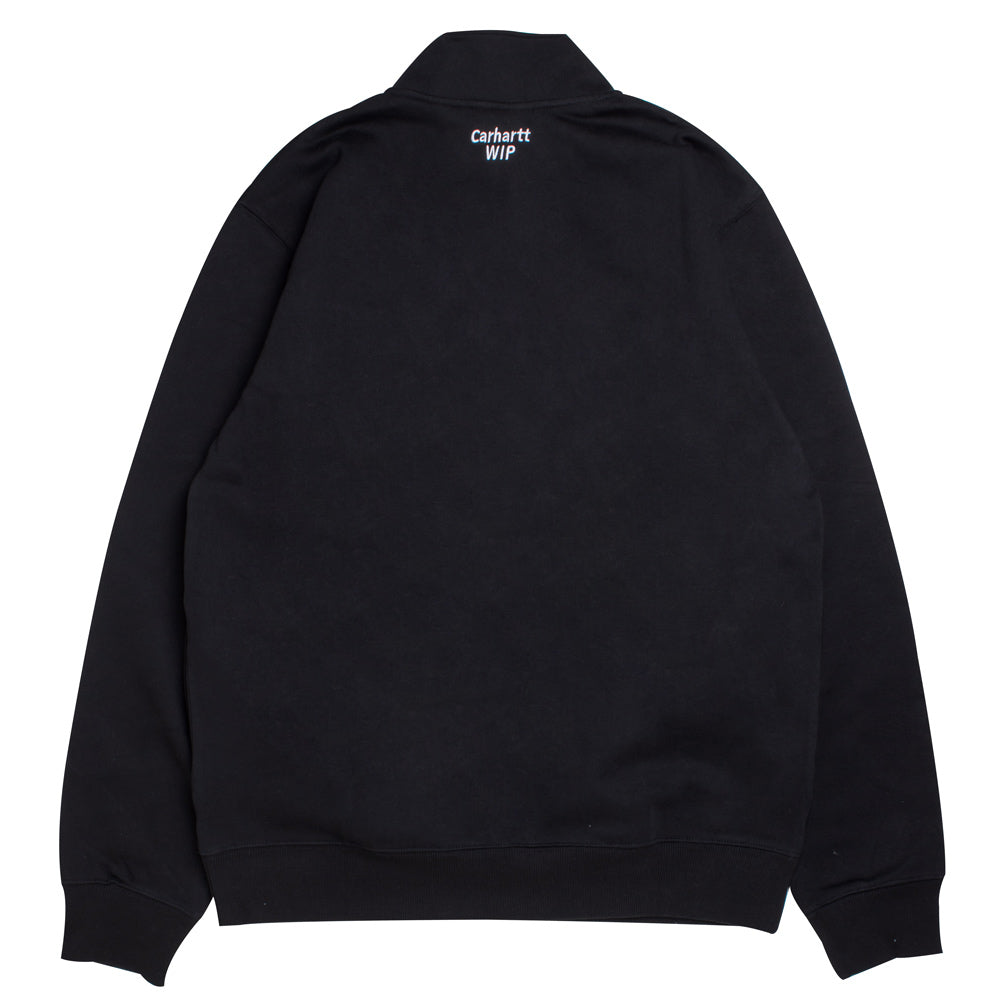 Carhartt WIP Retro Sport Half Zip Sweat | Black - CROSSOVER ONLINE