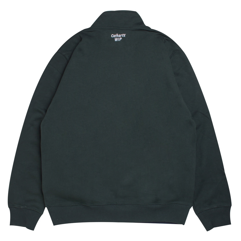 Retro Sport Half Zip Sweat | Loden
