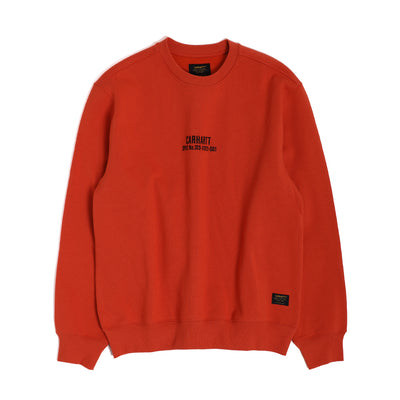 Carhartt WIPRolf Sweatshirt | Brick Orange - CROSSOVER