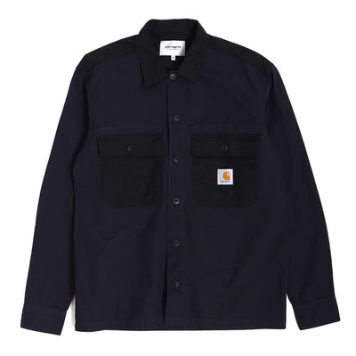 Carhartt WIPSierra LS Shirt | Dark Navy - CROSSOVER