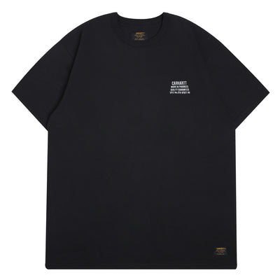 Carhartt WIPSeth S/S Tee | Black - CROSSOVER