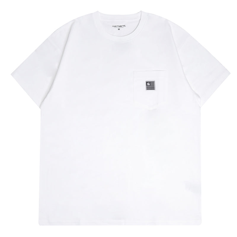 State Flag Pocket Tee | White
