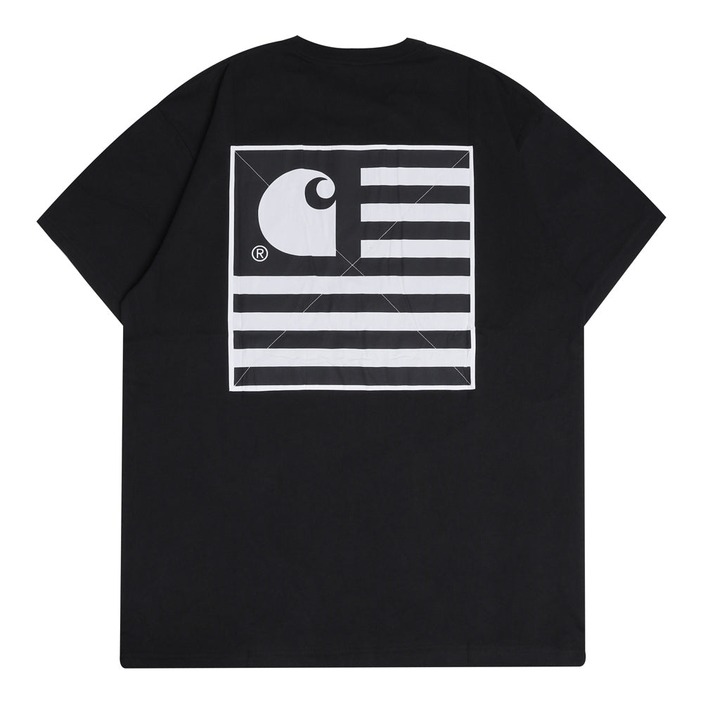 Carhartt WIP State Patch Tee | Black - CROSSOVER