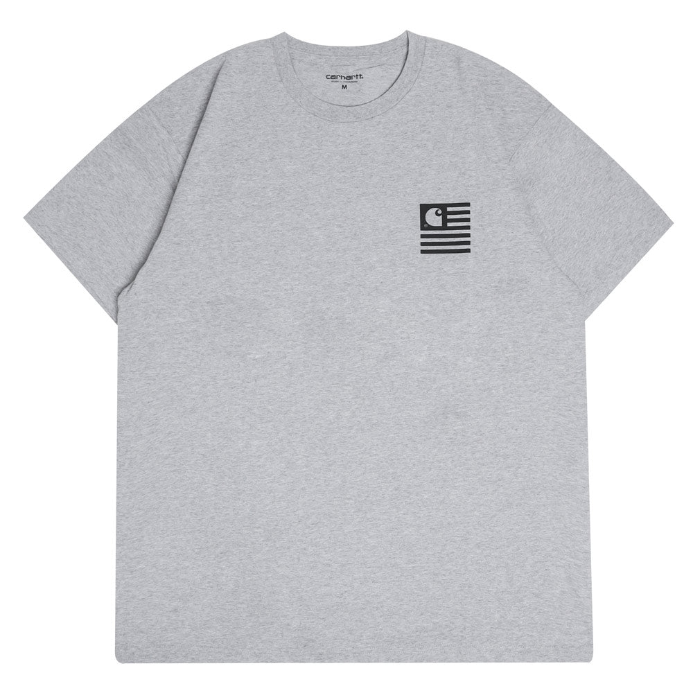 Carhartt WIP State Patch Tee | Grey Heather - CROSSOVER