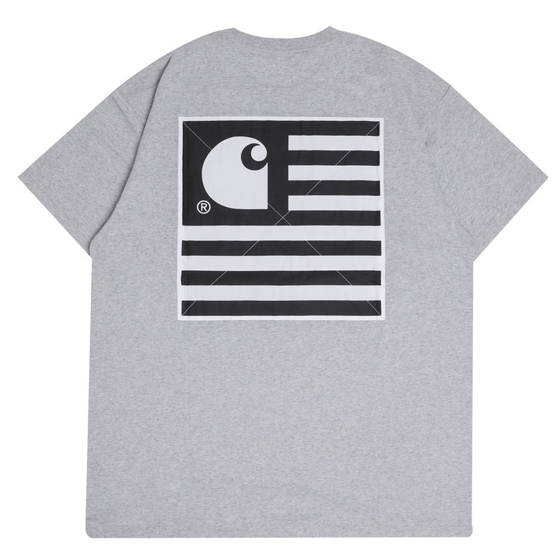State Patch Tee | Grey Heather