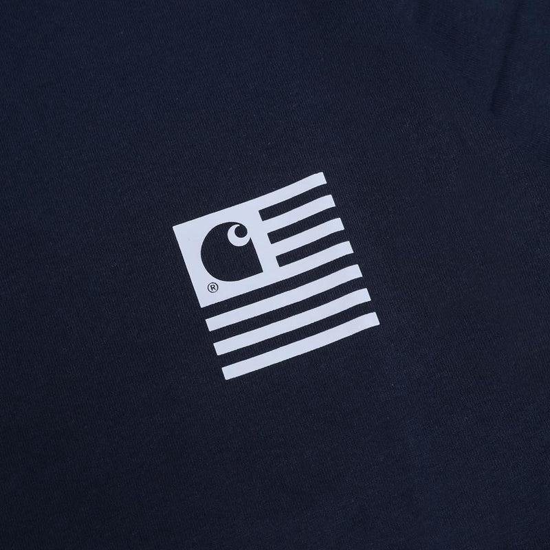 Carhartt WIP State Patch Tee | Navy - CROSSOVER