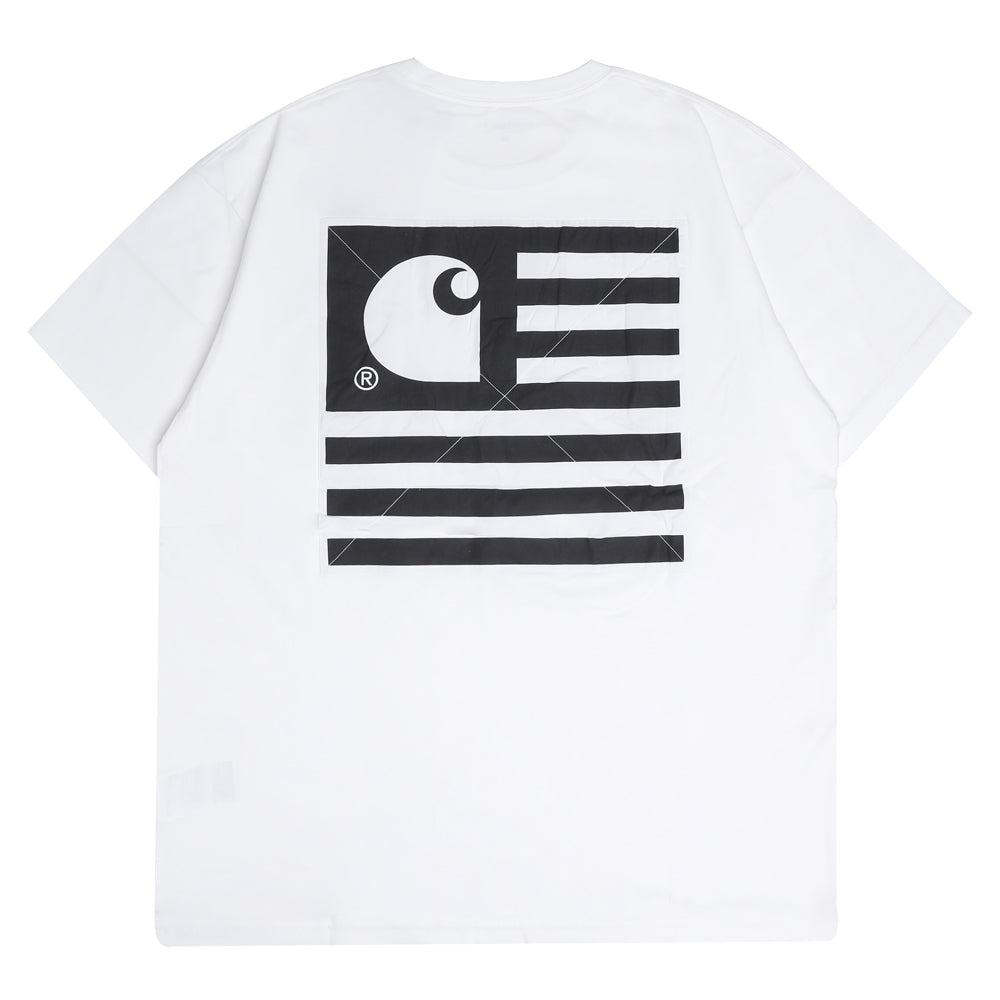 Carhartt WIP State Patch Tee | White - CROSSOVER