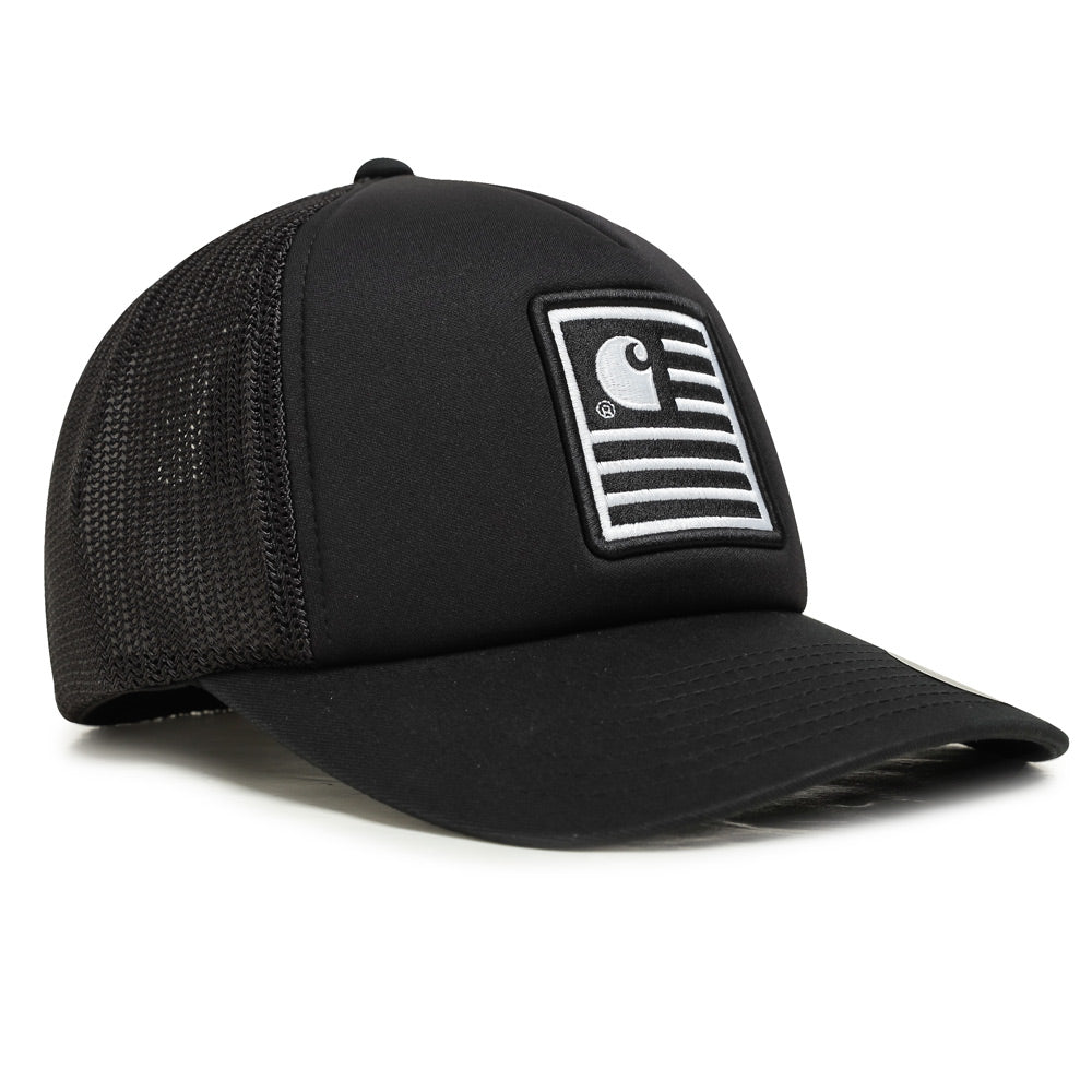 Carhartt WIP State Patch Trucker Cap | Black - CROSSOVER