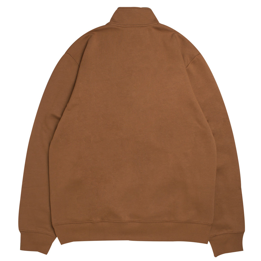 Carhartt WIP Team Script Half Zip Sweat | Hamilton Brown - CROSSOVER
