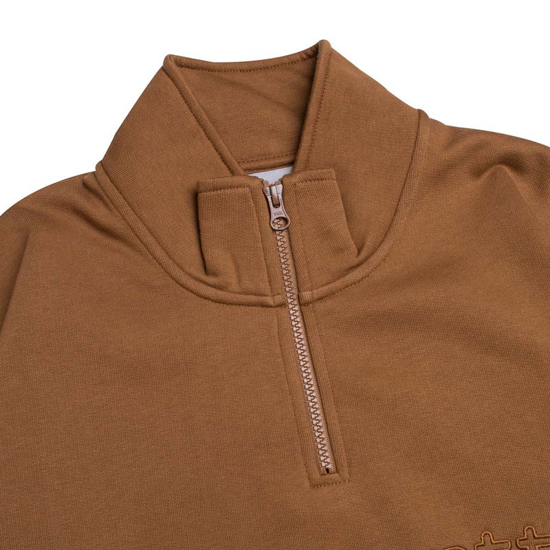 Carhartt WIP Team Script Half Zip Sweat | Hamilton Brown - CROSSOVER ONLINE