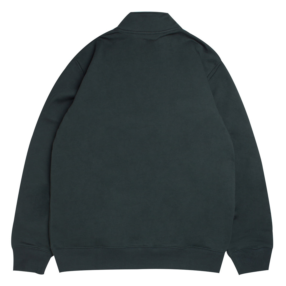 Carhartt WIP Team Script Half Zip Sweat | Loden - CROSSOVER