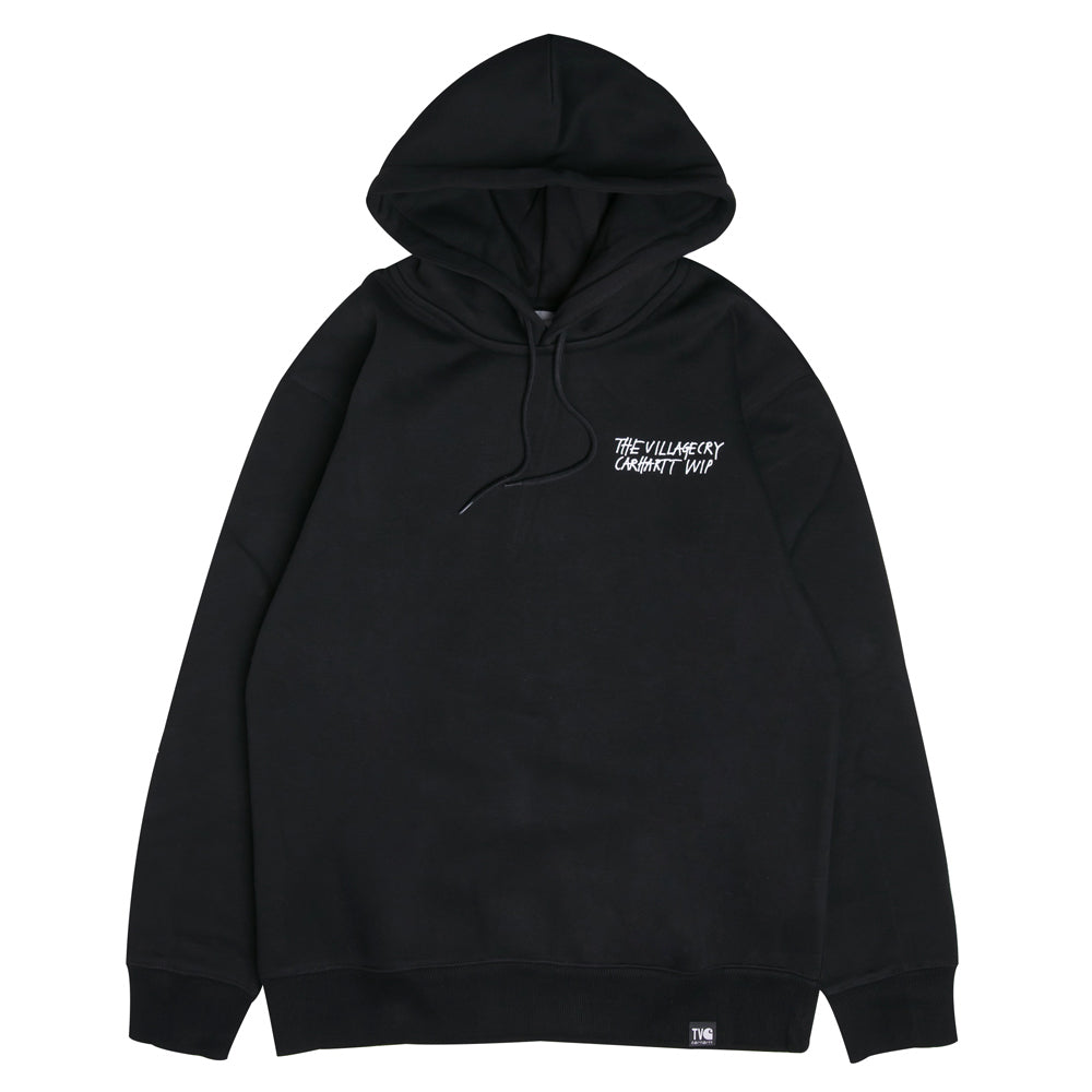 Carhartt WIP Hooded TVC Paris Sweatshirt | Black - CROSSOVER ONLINE