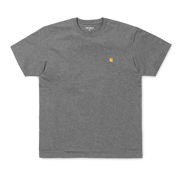 Carhartt WIPChase Tee | Dark Grey Heather - CROSSOVER