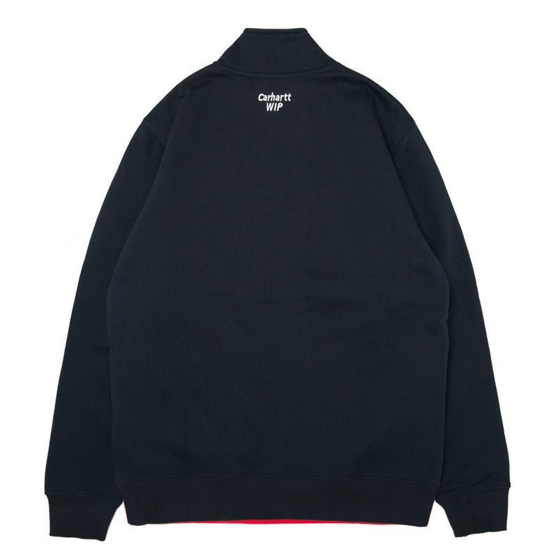 Retro Sport Half Zip Sweat | Navy