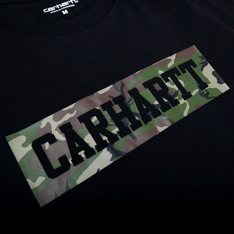S/S Box College Tee | Black Camo