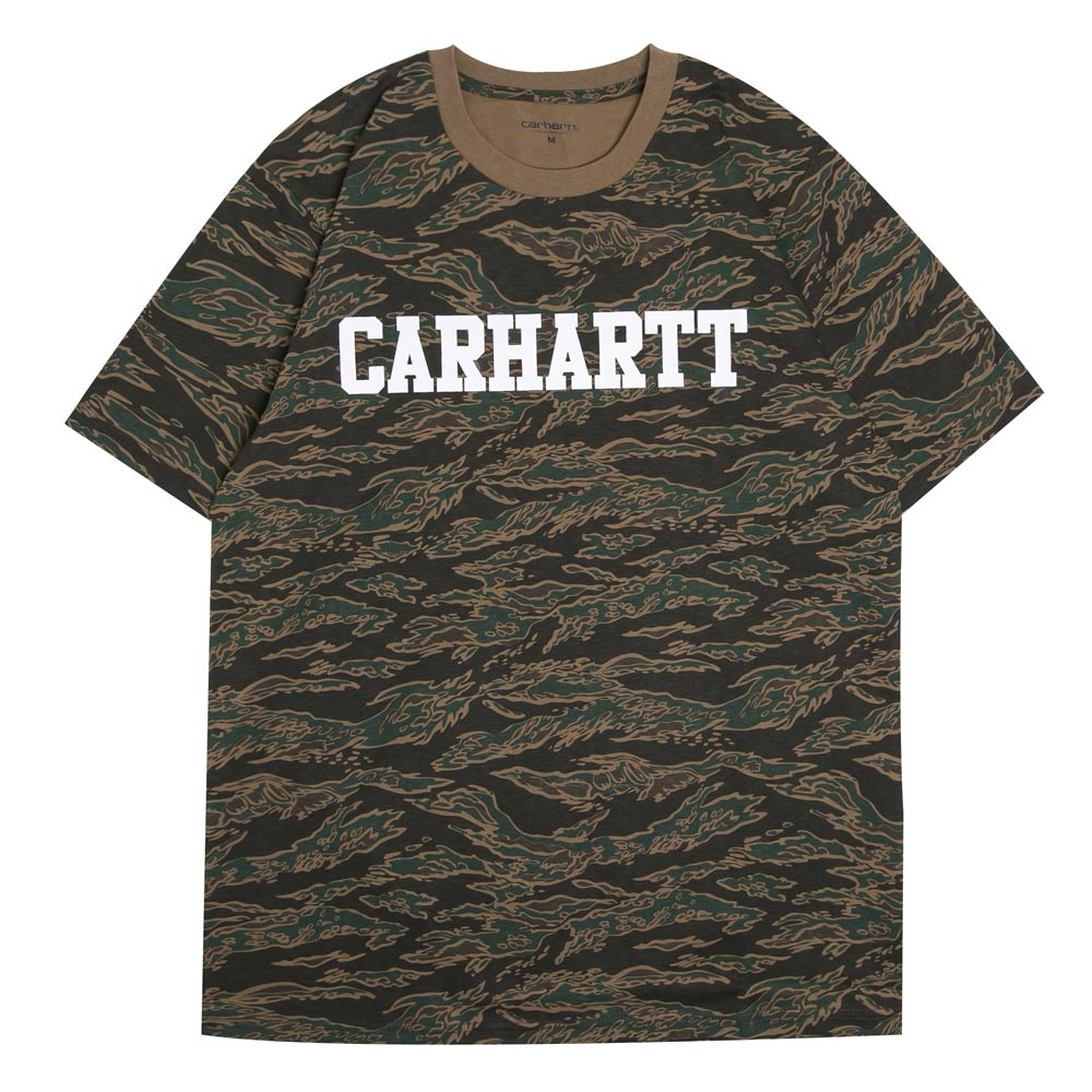S/S College Tee | Camo Tiger