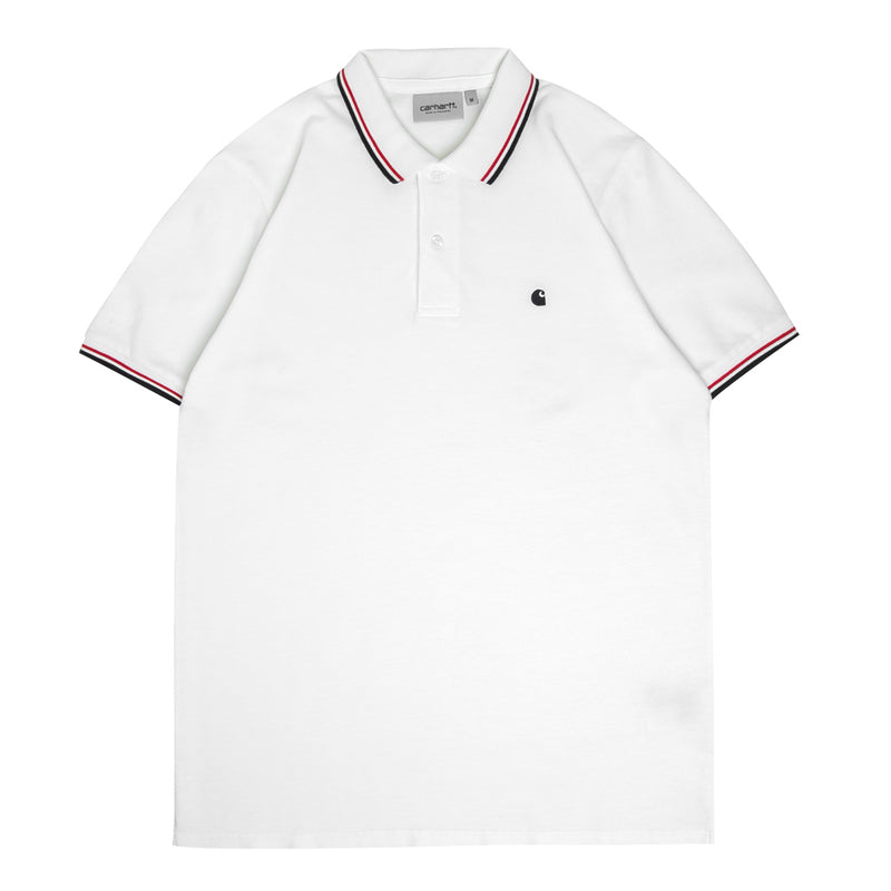 Carhartt WIP Venice Polo Tee | White - CROSSOVER ONLINE
