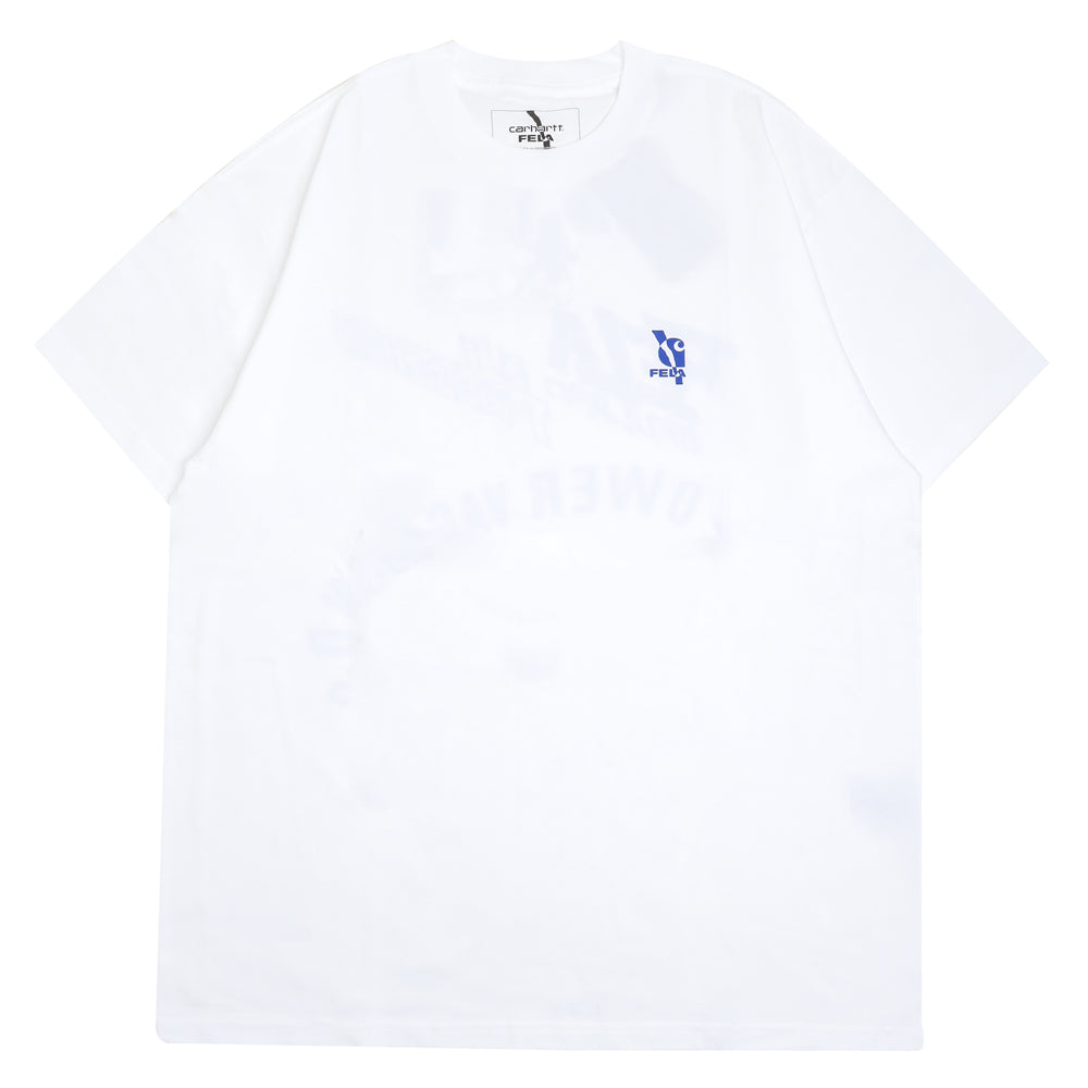 Carhartt WIP Power Vagabonds Tee | White - CROSSOVER