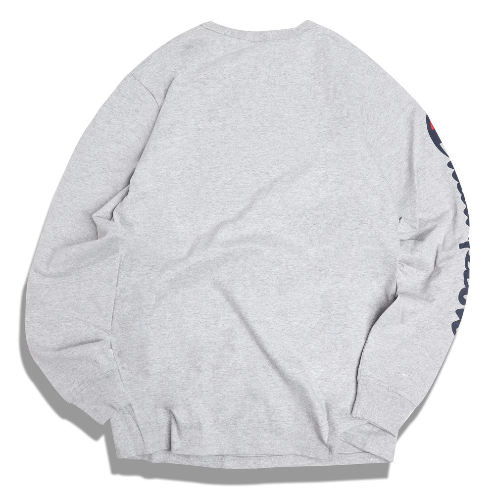 Champion Big C Logo L/S Tee | Oxford Grey - CROSSOVER
