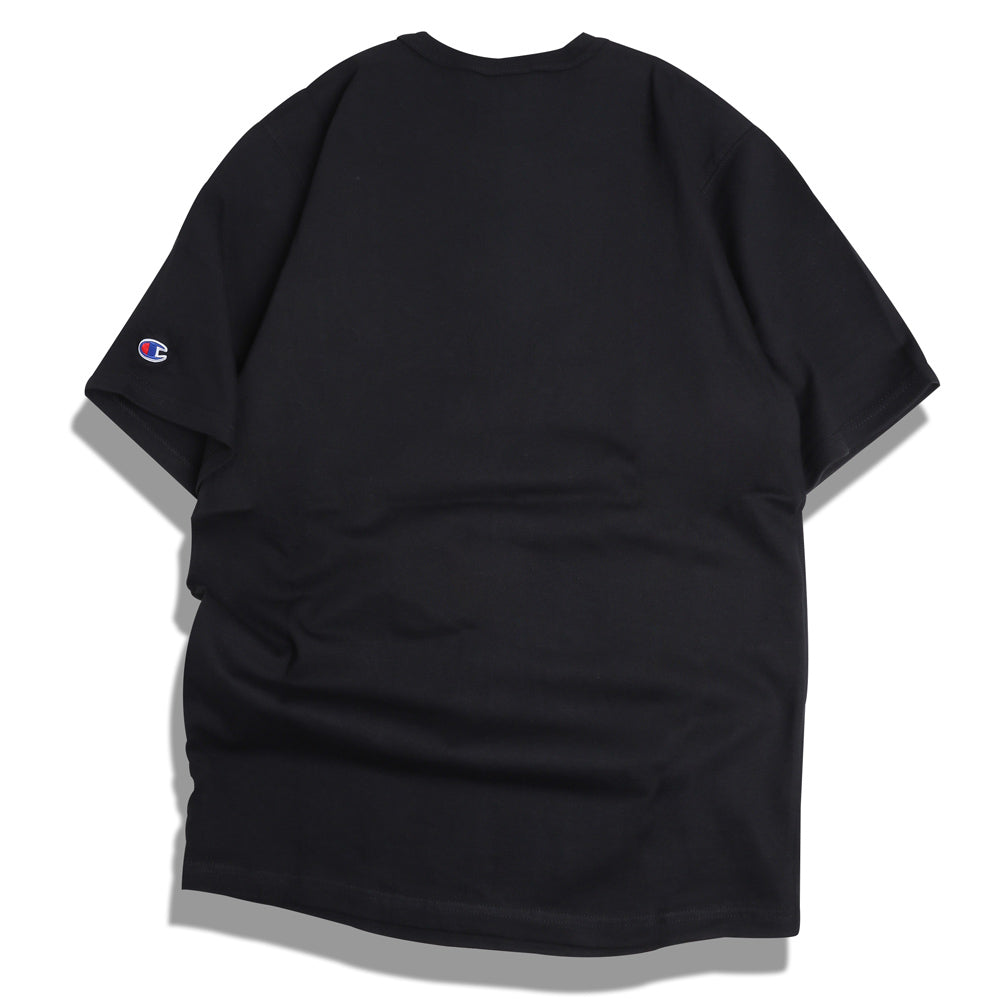 Champion C Applique Logo Tee | Black - CROSSOVER