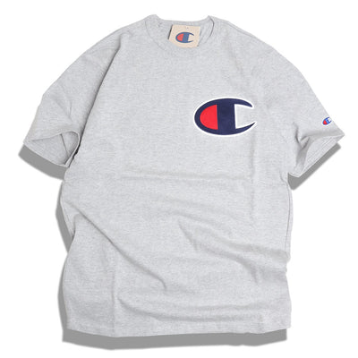 Champion C Applique Logo Tee | Oxford Grey - CROSSOVER