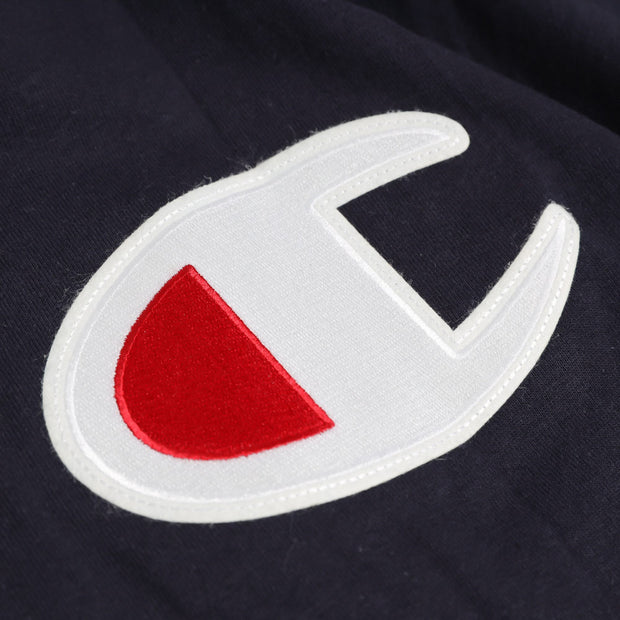 Champion C Applique Logo Tee | Navy - CROSSOVER